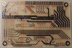 [ Bottom view of the unpopulated custom PCB ]